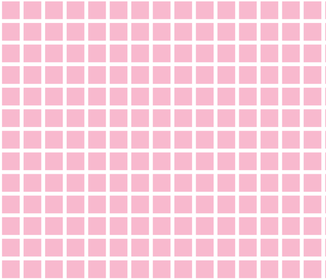 pink grid fabric by cristinapires on Spoonflower - custom fabric