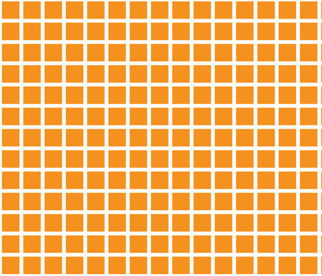 orange grid fabric by cristinapires on Spoonflower - custom fabric