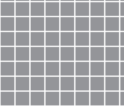 thin grey grid fabric by cristinapires on Spoonflower - custom fabric
