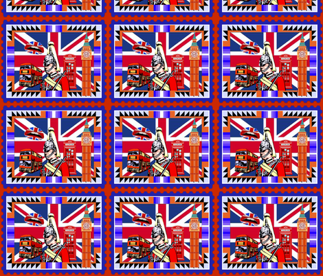 BRITISH POSTAGE STAMP fabric by bluevelvet on Spoonflower - custom fabric
