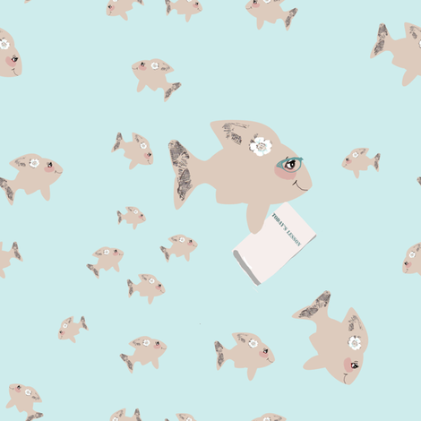 A School of Fish fabric by karenharveycox on Spoonflower - custom fabric