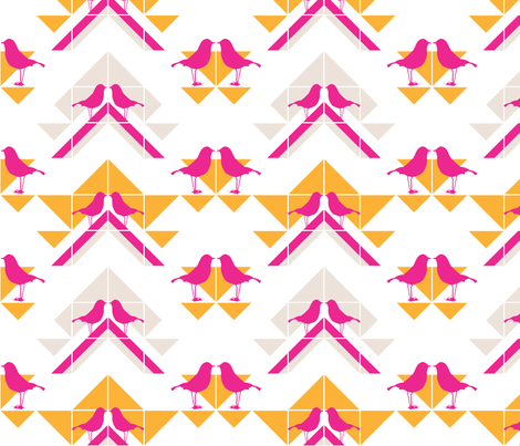 Geometrics/Birds No.1 fabric by lottiefrank on Spoonflower - custom fabric