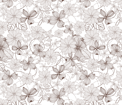 Floral pattern.  fabric by yaskii on Spoonflower - custom fabric