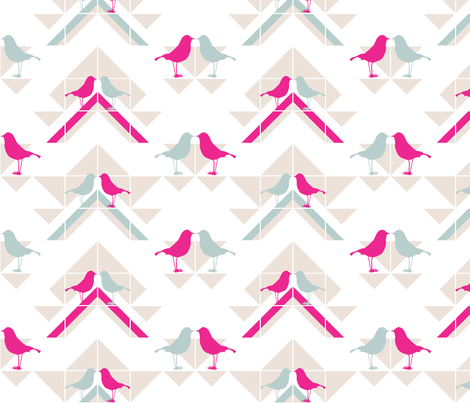 Geometrics/Birds No.4 fabric by lottiefrank on Spoonflower - custom fabric