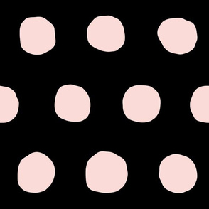 Jumbo Dots in blush/black