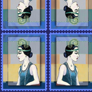 FLAPPER MIRROR STAMP