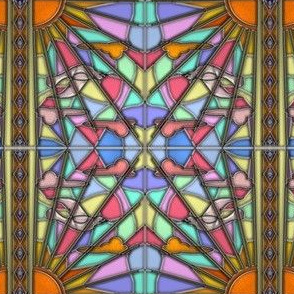 Dawn Dove Stained Glass 2