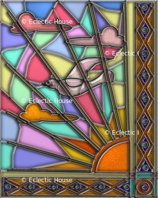 Dawn Dove Stained Glass 3