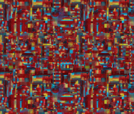 Manly cubes coordinate 1 fabric by su_g on Spoonflower - custom fabric