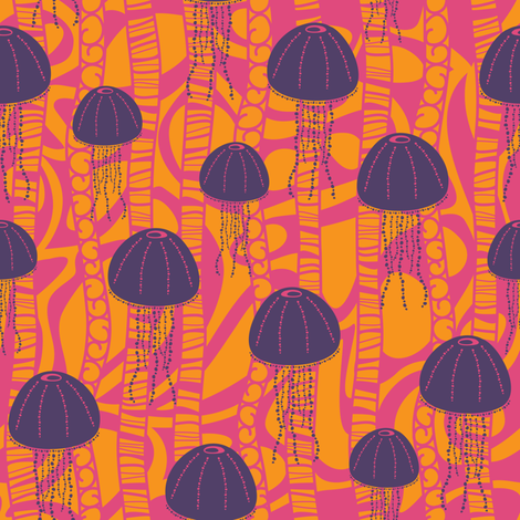 Jiving Jellies fabric by robyriker on Spoonflower - custom fabric