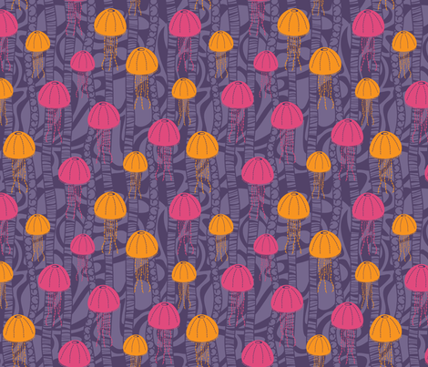 Jumping Jellies fabric by robyriker on Spoonflower - custom fabric