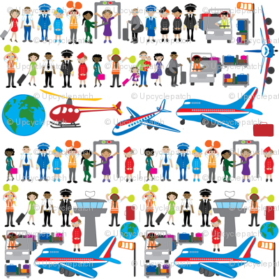 People at the airport decal