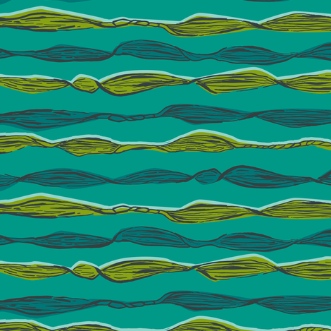 Seaweed Coordinate fabric by gsonge on Spoonflower - custom fabric