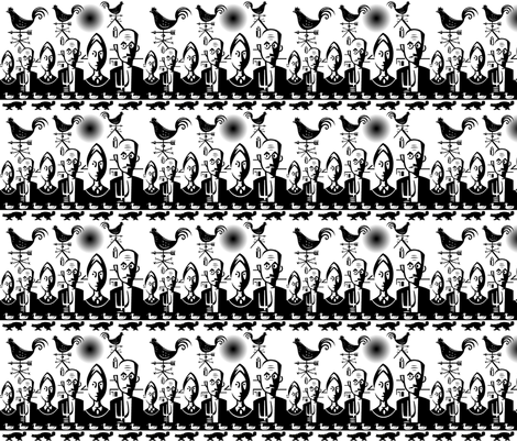 GOTHIC FARMERS fabric by bluevelvet on Spoonflower - custom fabric