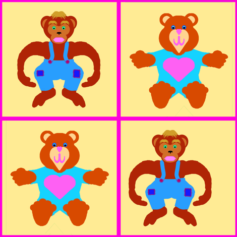 SiggyBearAnMonkeyPal fabric by grannynan on Spoonflower - custom fabric