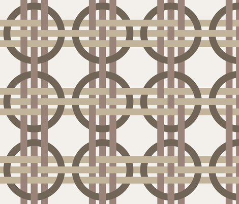 Coffee Weave fabric by syelon on Spoonflower - custom fabric
