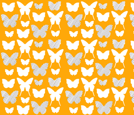 butterfly1_17jan2012galerystripesw_150dpiORANGE fabric by cristinapires on Spoonflower - custom fabric
