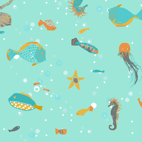 Under the sea fabric by katarina on Spoonflower - custom fabric