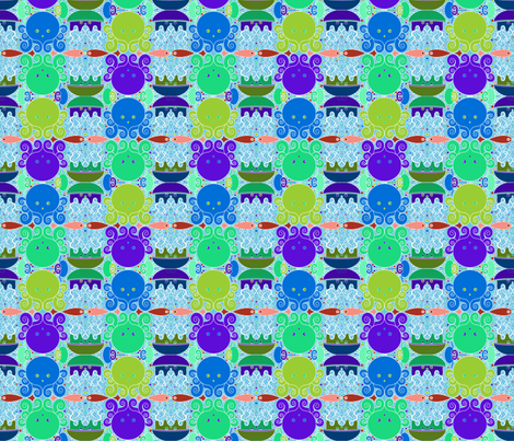 Underwater Magic - Aqua fabric by beth_snow on Spoonflower - custom fabric