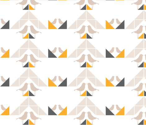 Geometrics/Birds No.6 fabric by lottiefrank on Spoonflower - custom fabric