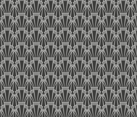 grey deco - medium fabric by crowlands on Spoonflower - custom fabric