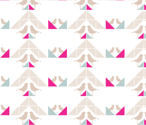 Geometrics/Birds No.8 fabric by lottiefrank on Spoonflower - custom fabric