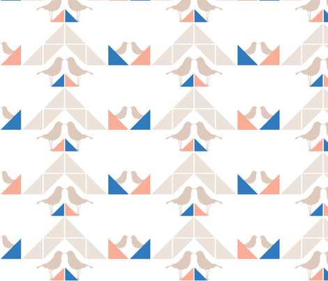 Geometrics/Birds No.7 fabric by lottiefrank on Spoonflower - custom fabric