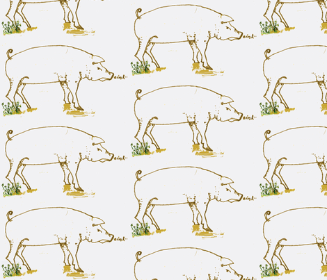 Pigs fabric by boris_thumbkin on Spoonflower - custom fabric