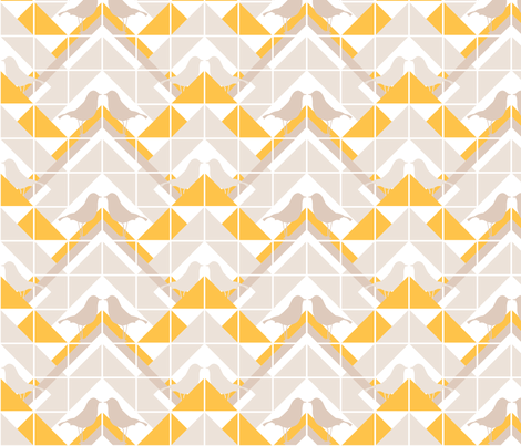 Geometrics/Birds No.9 fabric by lottiefrank on Spoonflower - custom fabric