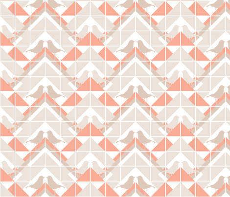 Geometrics/Birds No.10 fabric by lottiefrank on Spoonflower - custom fabric