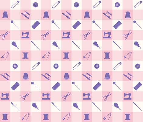 PLAID_SEWING_PURPLE fabric by natasha_k_ on Spoonflower - custom fabric