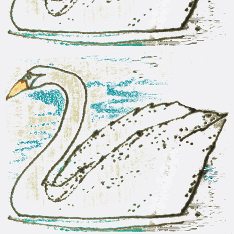 Swans fabric by boris_thumbkin on Spoonflower - custom fabric