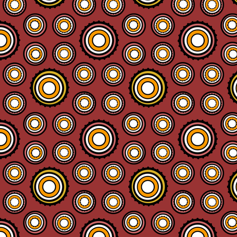 DOTS 250 SPICE fabric by glimmericks on Spoonflower - custom fabric