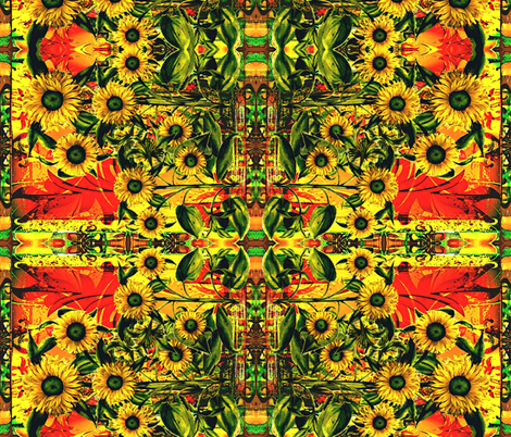 Sunflower  fabric by whimzwhirled on Spoonflower - custom fabric