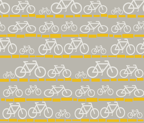 Yellow Brick Bike fabric by theladyinthread on Spoonflower - custom fabric