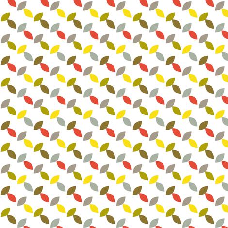 Footnote Flower - Leaf Lattice fabric by pennycandy on Spoonflower - custom fabric