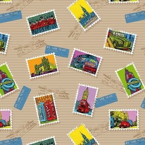 London PopArt Stamps