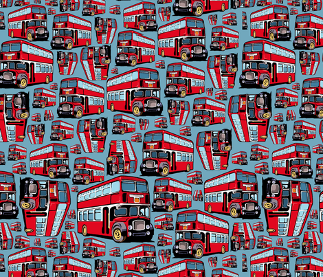 London_Bus fabric by cassiopee on Spoonflower - custom fabric