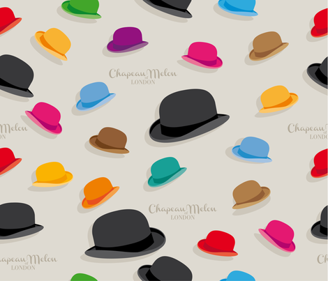 ChapeauMelon fabric by cassiopee on Spoonflower - custom fabric
