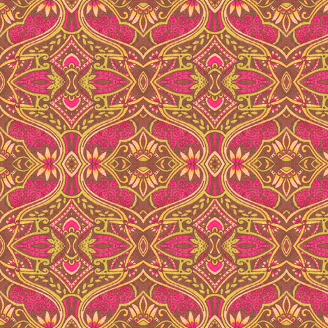 Metsovo Rose fabric by siya on Spoonflower - custom fabric