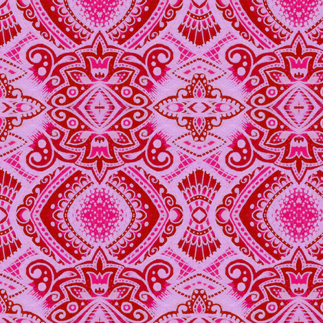 Little Lady - Cerise fabric by siya on Spoonflower - custom fabric