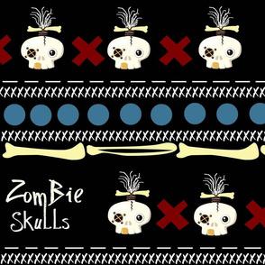 zombie skulls / large