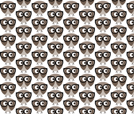 Geek Owl fabric by natitys on Spoonflower - custom fabric