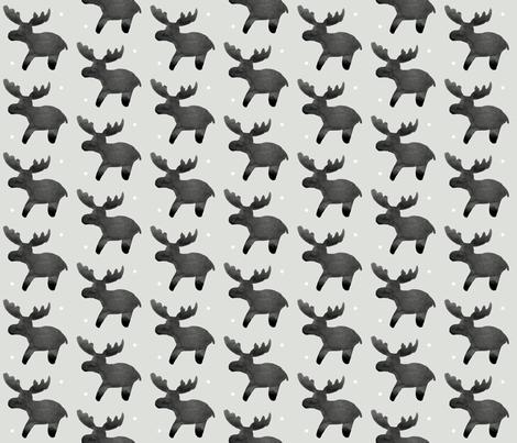 cestlaviv_MOOSE-pal_snowballs fabric by cest_la_viv on Spoonflower - custom fabric