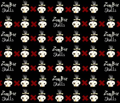 zombie skulls X fabric by paragonstudios on Spoonflower - custom fabric