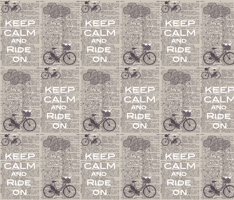 dictionary bicycle fabric by katarina on Spoonflower - custom fabric