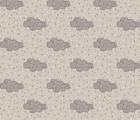rainy cloud fabric by katarina on Spoonflower - custom fabric