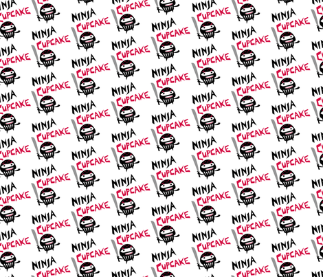 Ninja Cupcakes fabric by andibird on Spoonflower - custom fabric