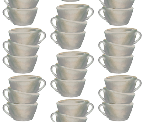 Cups, cups, cups fabric by karenharveycox on Spoonflower - custom fabric