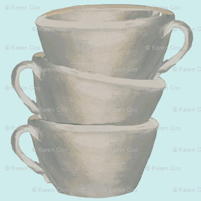 Cups, cups, cups, blue